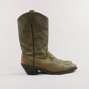 Ariat Leather Desert Star Cowboy Boots sz 8